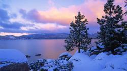 Lovely Frozen Lake Wallpaper