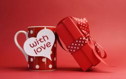 red cup dots heart text with love gift wide hd wallpaper is a lovely background.