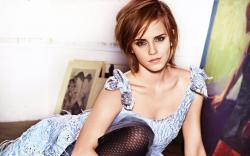 Lovely Girl Emma Watson Actress Dress Look