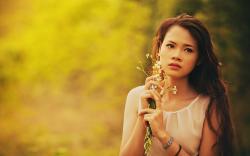 Lovely Girl Flowers