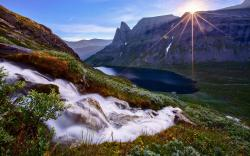 """Download the following Lovely Mountain Stream 33681 by clicking the orange button positioned underneath the """"Download Wallpaper"""" section."""