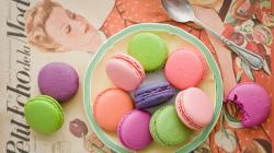 Colorful Cake Macaron Wallpaper Wide Wallpaper