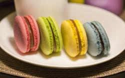 Macaroon Sweets Colorful Pink Green Yellow Blue