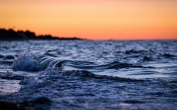 Macro Nature Beach Water Ocean Waves
