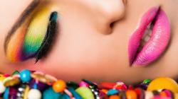 2048x1152 Wallpaper girl, lipstick, makeup, lips, bright