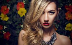 Beautiful Blonde Girl Necklace