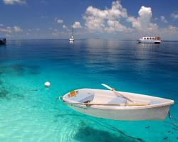 Blue Boat Maldives Indian Ocean Sky Vacation White Download Free Images