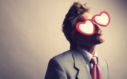 Man Hearts Glasses Love Funny