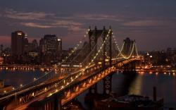 Manhattan bridge night
