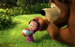 Balls bears bushes masha and the bear wallpaper