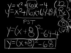 An image from one of the Explain Everything videos made by students of David Gomes' Grade 11 math class at Essex District High School on Mar. 27, 2013.