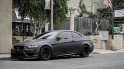 BMW M3 E92 Matte Grey Street Parking