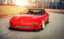 Mazda RX-7 Tuning Car Red