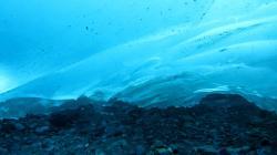 Ice cave panorama Mendenhall Glacier