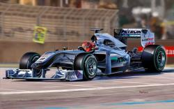 Mercedes AMG Petronas Formula 1 Michael Schumacher Track