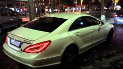 2013 mercedes CLS63 amg loud acceleration and burnout