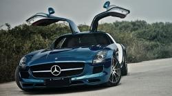 Blue Mercedes SLS Wallpaper 19500