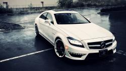 Image for White Mercedes Benz CLS 63 AMG Wallpaper HD 2