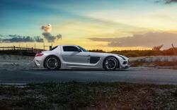 Mercedes-Benz SLS Black Series Car Side