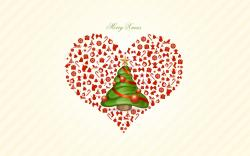 Love Heart Free Stock Photo Wallpaper and Merry Christmas Tree 1920x1200px