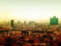 Wallpaper Mexico City Skyline