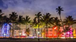 Miami Beach At Night Desktop Miami Beach