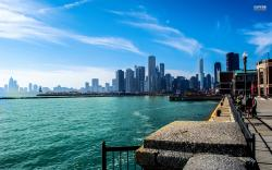 Chicago and lake Michigan wallpaper 1920x1200 jpg