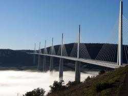 Millau Viaduct Location: Millau, France on the map. When built: 2004; Height: 343м; Length: 2.460m