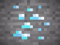 Minecraft Diamond Block Texture Wallpaper