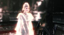 Minerva speaking with Ezio Auditore in the Vault