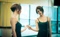 Beautiful Girl Mirror