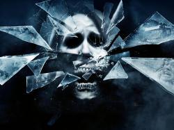 Description: Wallpaper titled Scary Mirror