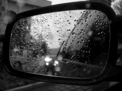 Black And White Cars Mirror Wallpaper HD 987