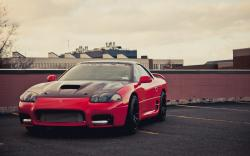Mitsubishi 3000GT Red Car Parking HD Wallpaper