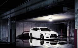 Mitsubishi Lancer Evolution X Parking