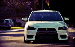 Mitsubishi Lancer Evolution X Street Car HD Wallpaper