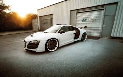 Modified audi r8 black white