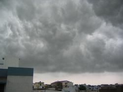 Monsoon clouds over Lucknow, Uttar Pradesh.