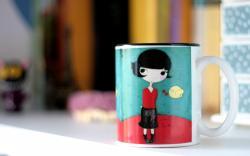 Mood Cup Girl Art