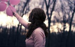 Mood Girl Balloons Pink
