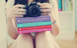 Mood Girl Books Camera Photo