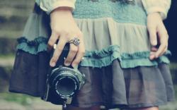 Girl Dress Camera Hi-Tech Mood HD Wallpaper