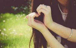 Summer Girl Hands Heart Love Mood