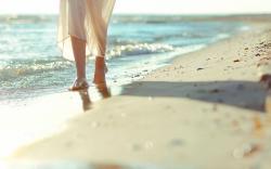 Mood Girl Legs Sand Beach Sea Waves