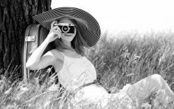 Mood Girl Smile Camera Nature