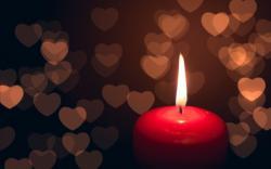 Mood Candle Fire Flame Hearts