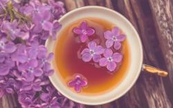 Mood Mug Cup Tea Flowers Purple Lilac