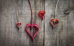 Paper Origami Hearts Love Mood