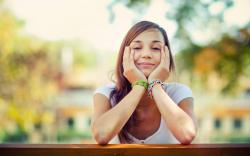 Girl Smile Mood Photo