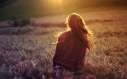 Mood Girl Nature Field Wheat